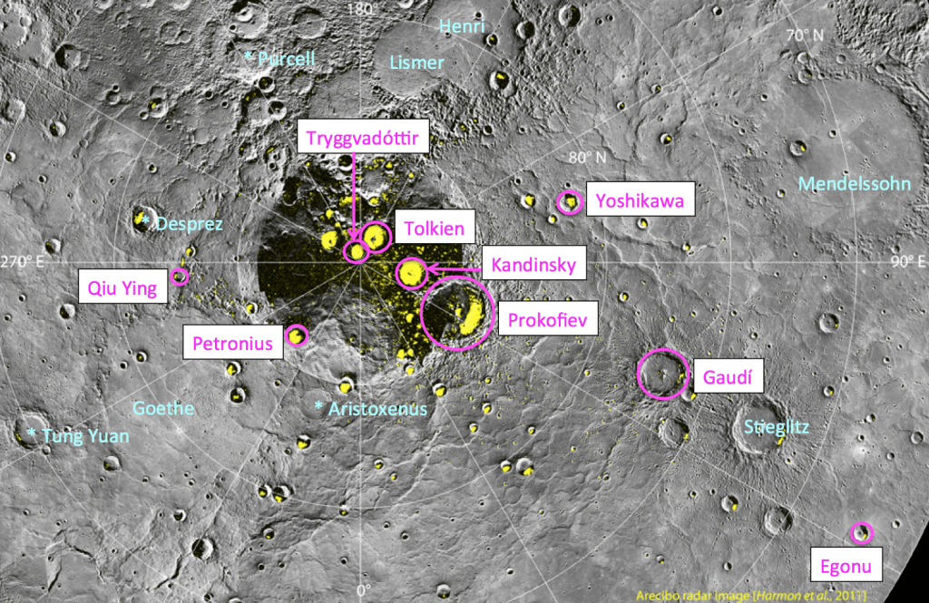 Source: https://www.universetoday.com/96778/the-hobbit-author-gets-a-crater-on-mercury/